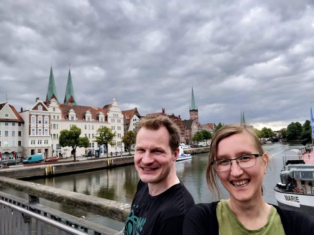 A und O vor der Lübecker Altstadt