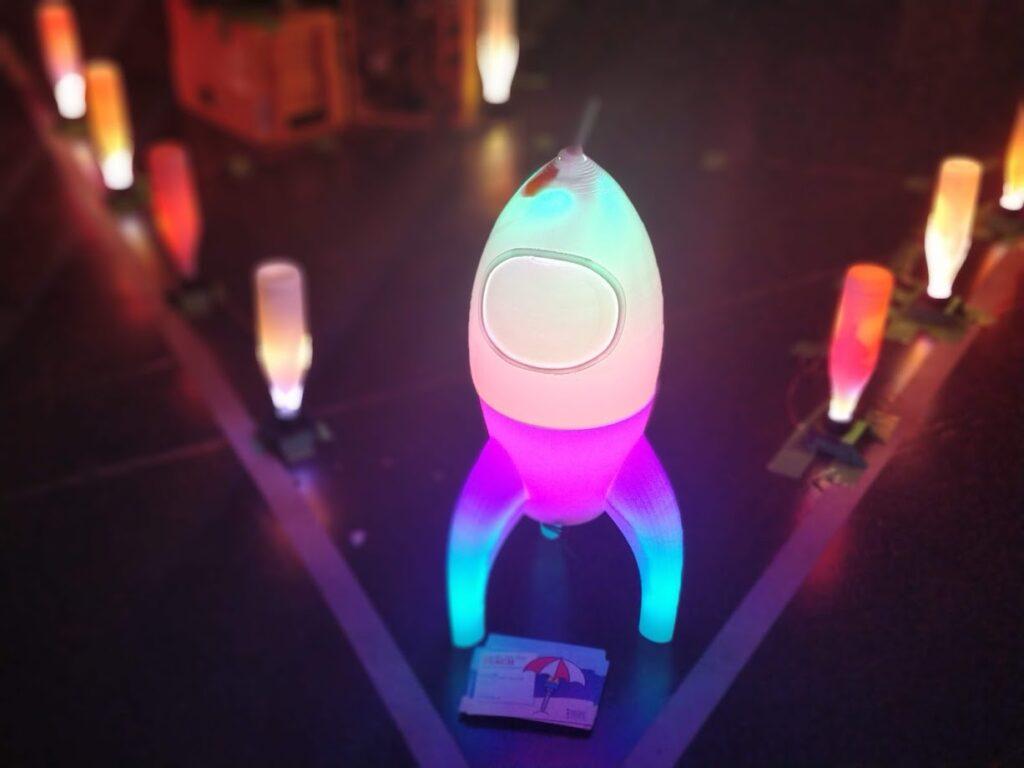 Leuchtrakete beim MOiN-Assembly auf dem 35c3