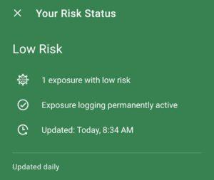eine Begegnung mit geringem Risiko (Screenshot)